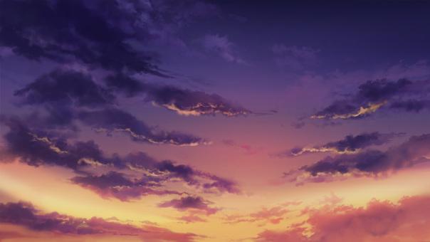 日落或晨光