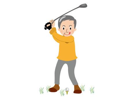人物/男性/ゴルフ
