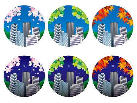 Four Season Summary (21) Buildings in the office area