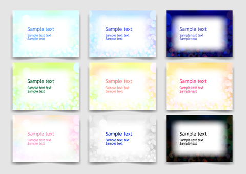 Colorful round abstract background material frame set