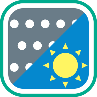Weather icon snow afternoon sunny