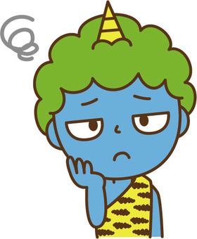 Troubling blue demon