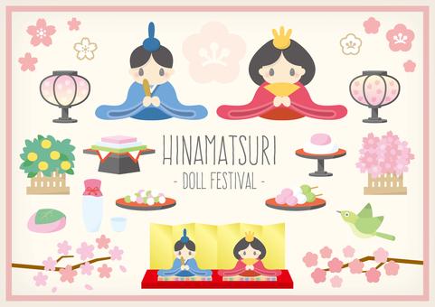 Hina festival illustration material