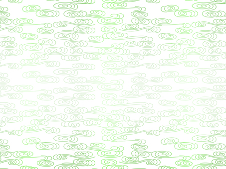 Abstract wave pattern green on white