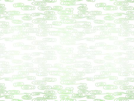 흰색 바탕에 초록 물결 패턴 녹색