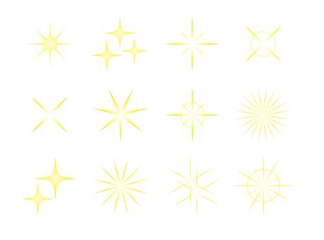 별 스타 반짝