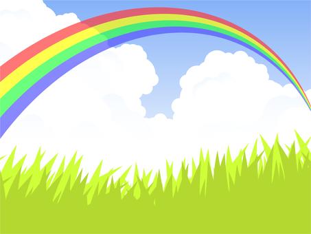 초원과 무지개 다리 (4 色虹)