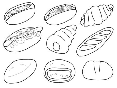 Confectionery bread (monochrome)