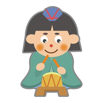五人囃子 '(북)