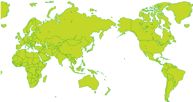 World countries world map map border