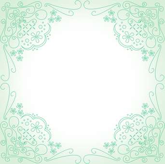 Antique style decorative frame green