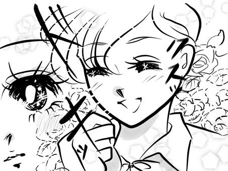 漫画 少女  ときめき