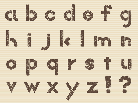 Alphabet handwriting like lowercase letters