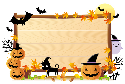 Halloween bulletin board without background