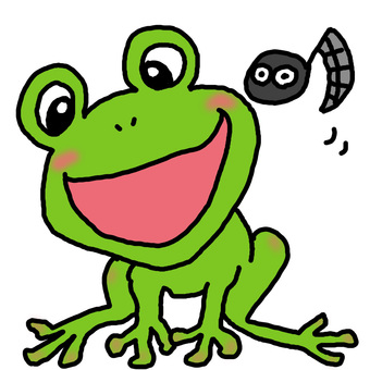 The frog 's song is good ~