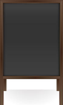 Wooden menu board · dark