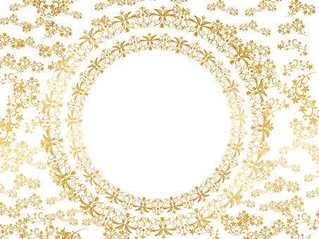 Royal style romantic frame white