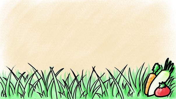 米色與蔬菜背景