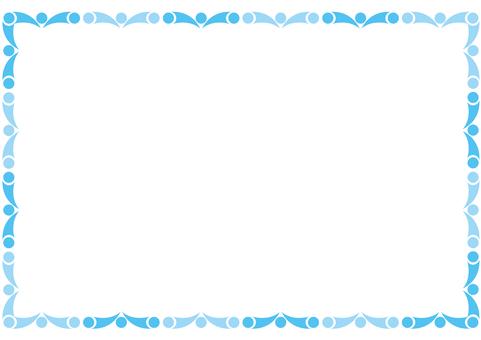 Frame - beads - blue