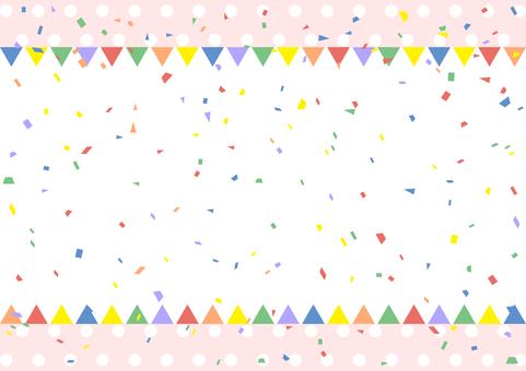 Flag frame confetti dot background