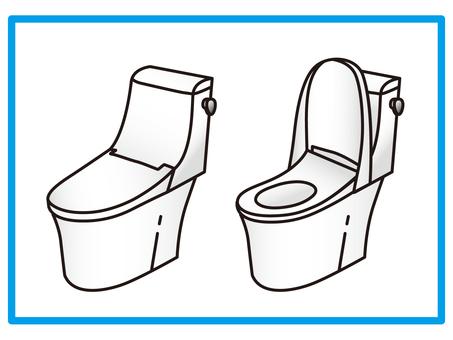 Toilet Integrated type toilet Integrated type toilet No washing