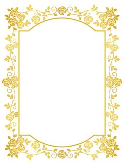 Rose frame (gold)