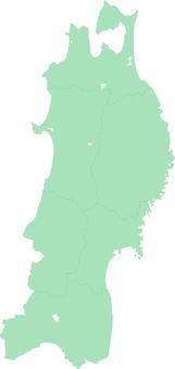 Tohoku region _ silhouette