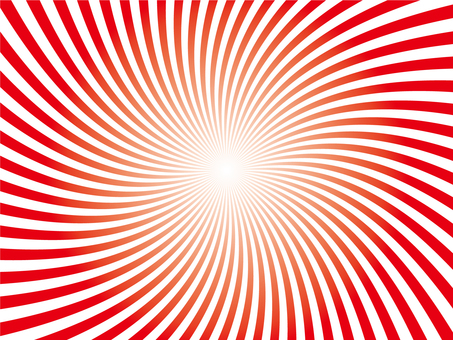 Loose swirl (red and white)