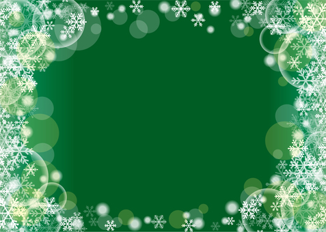 Snow crystal background (green)