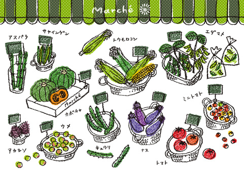 Summer vegetables and fruits 1 pop