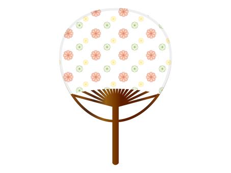 Fan of a floral pattern