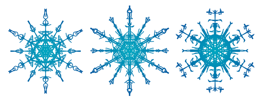 Snow crystal 1 blue