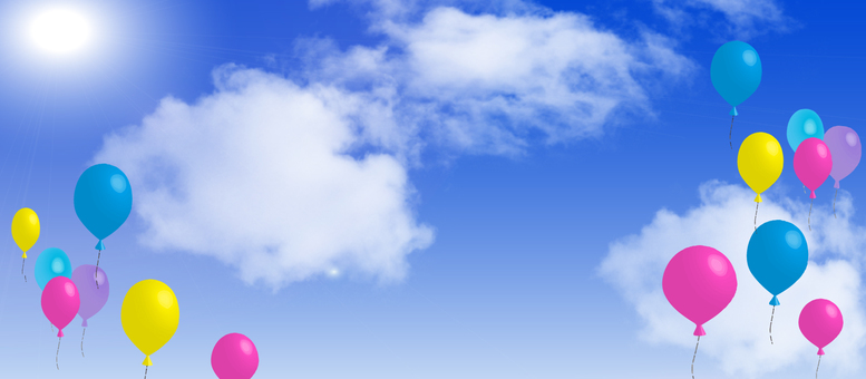 Balloons and sky landscape wallpaper