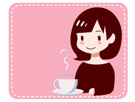 Tea cup and girl 1