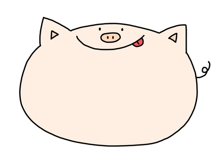 Pig color frame