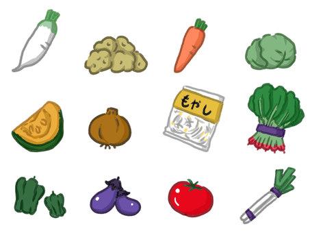 Vegetables often seen at supermarkets
