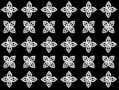 Flower pattern - silver