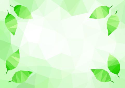 Mosaic triangle green leaf background