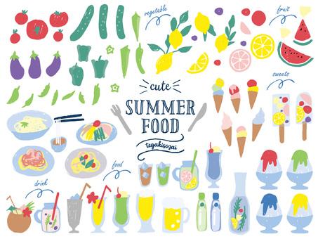 여름 음식 일러스트
