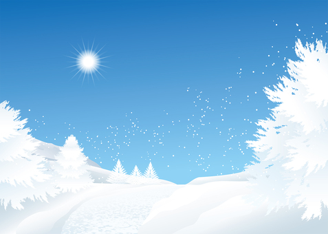 Snowy background background illustration
