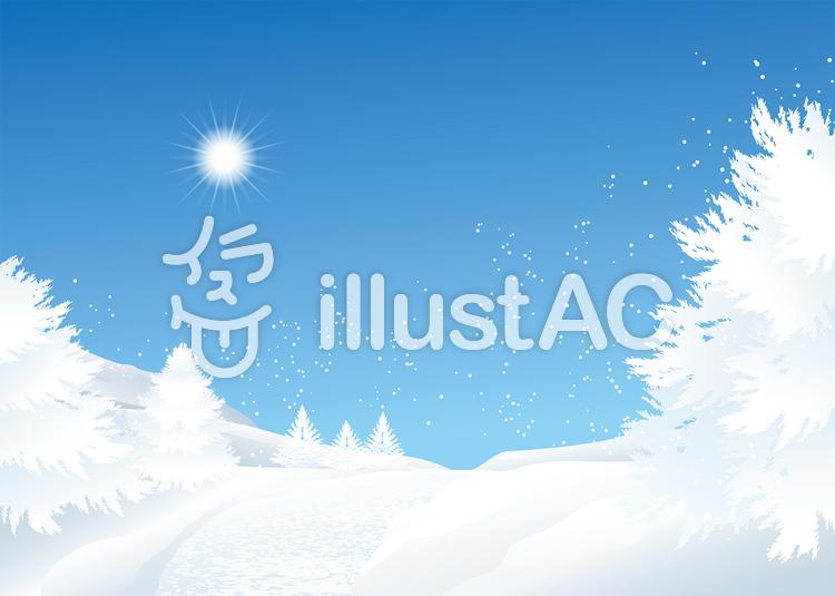 雪山の背景イラストイラスト No 1331543無料イラストならイラストac