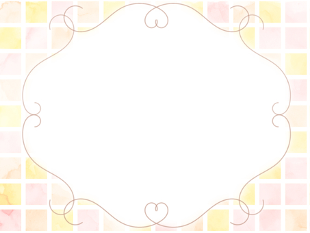 Watercolor tile frame pink