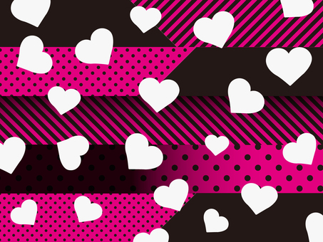 Heart pattern background pink