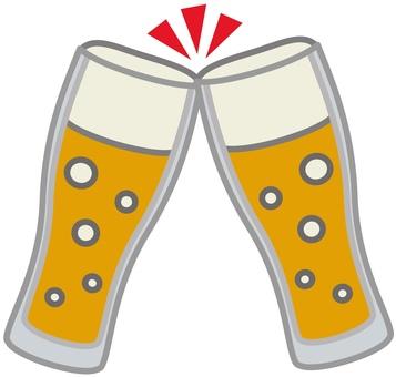 Beer glass toast 2