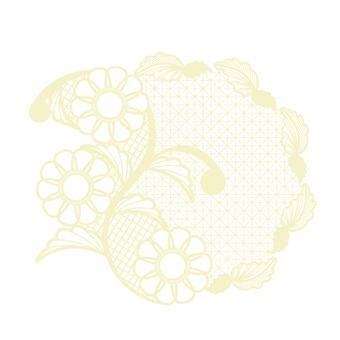 Flower pattern lace