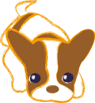 Cute little puppy one point illustration icon