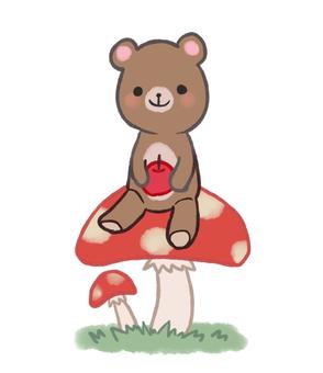 곰과 버섯