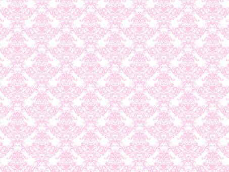 Damask pattern pink