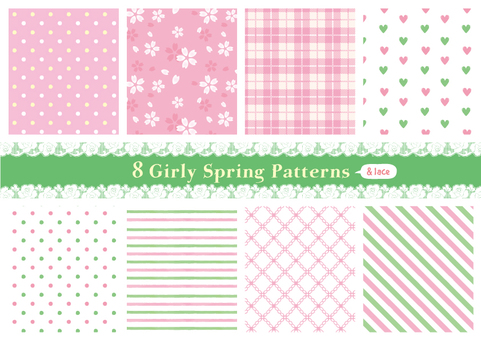 Girly pattern 04 spring