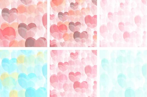 Heart geometric pattern